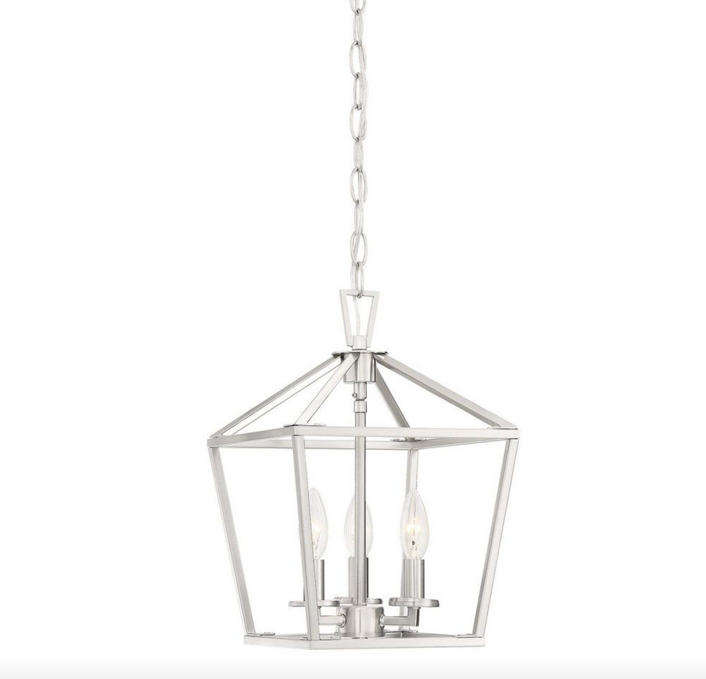 Townsend 3 Light Foyer Satin Nickel-furniture stores regina-Hunters Furniture
