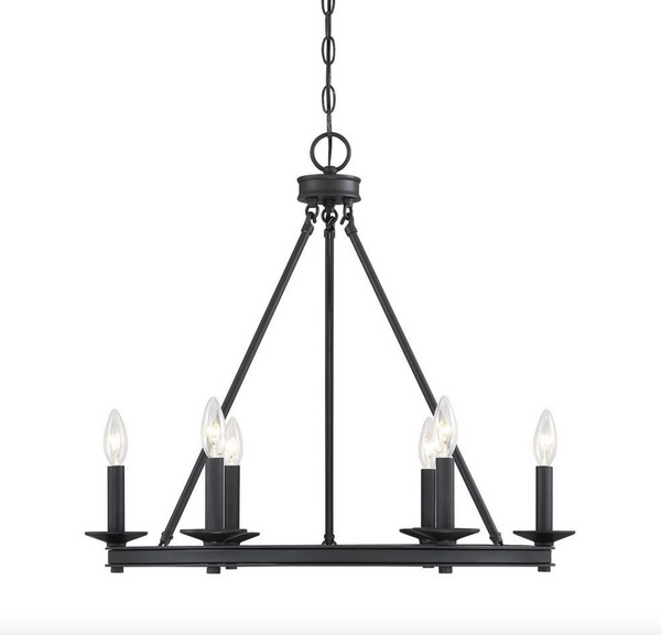 Middleton 6 Light Chandelier Matte Black-furniture stores regina-Hunters Furniture