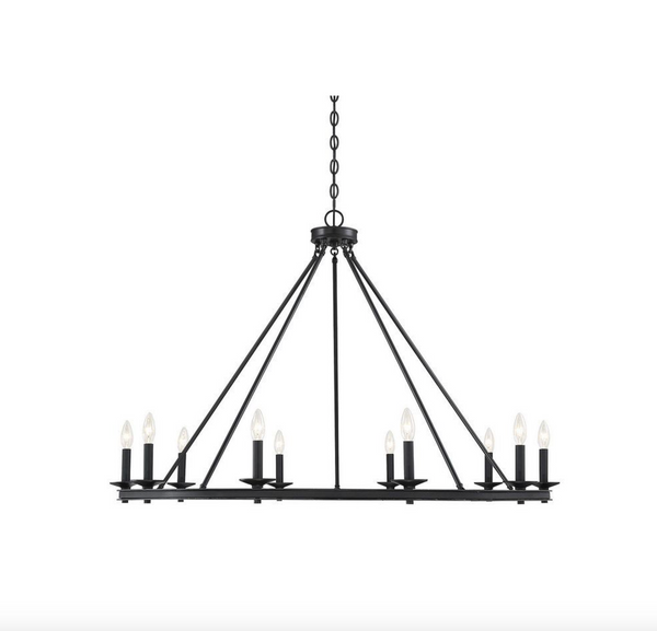 Middleton 10 Light Chandelier Matte Black-furniture stores regina-Hunters Furniture