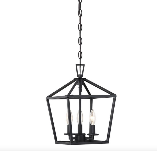 Townsend 3 Light Foyer Matte Black-furniture stores regina-Hunters Furniture
