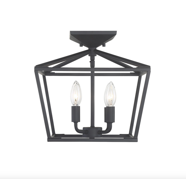 Townsend 4 Light Semi Flush Matte Black-furniture stores regina-Hunters Furniture