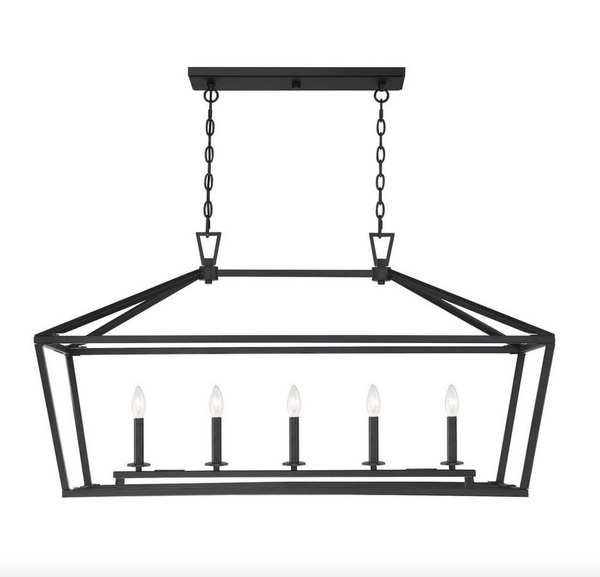 Townsend 5 Light Trestle Matte Black-furniture stores regina-Hunters Furniture