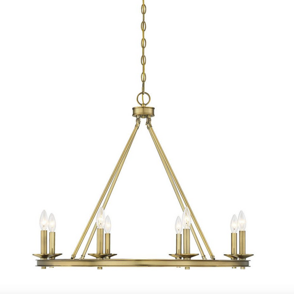 Middleton 8 Light Chandelier Warm Brass-furniture stores regina-Hunters Furniture