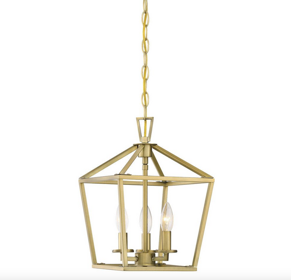 Townsend 3 Light Foyer Warm Brass-furniture stores regina-Hunters Furniture