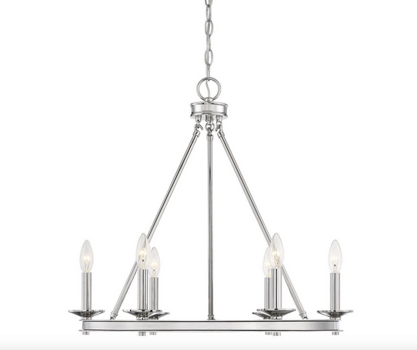 Middleton 6 Light Chandelier Polished Nickel-furniture stores regina-Hunters Furniture