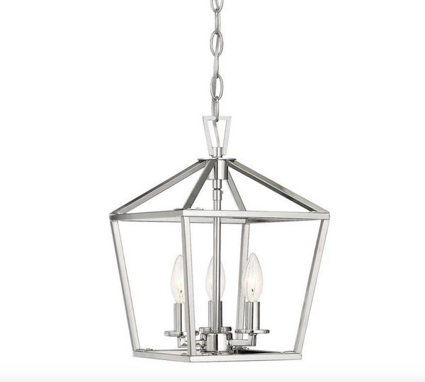 Townsend 3 Light Foyer Polished Nickel-furniture stores regina-Hunters Furniture