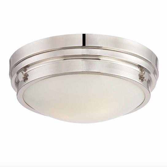 Lucerne Flush Mount Polished Nickel-furniture stores regina-Hunters Furniture
