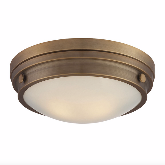 Lucerne Flush Mount Warm Brass-furniture stores regina-Hunters Furniture