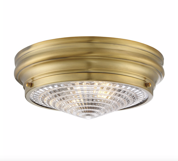 "Benton 13"" Flush Mount Warm Brass-furniture stores regina-Hunters Furniture"