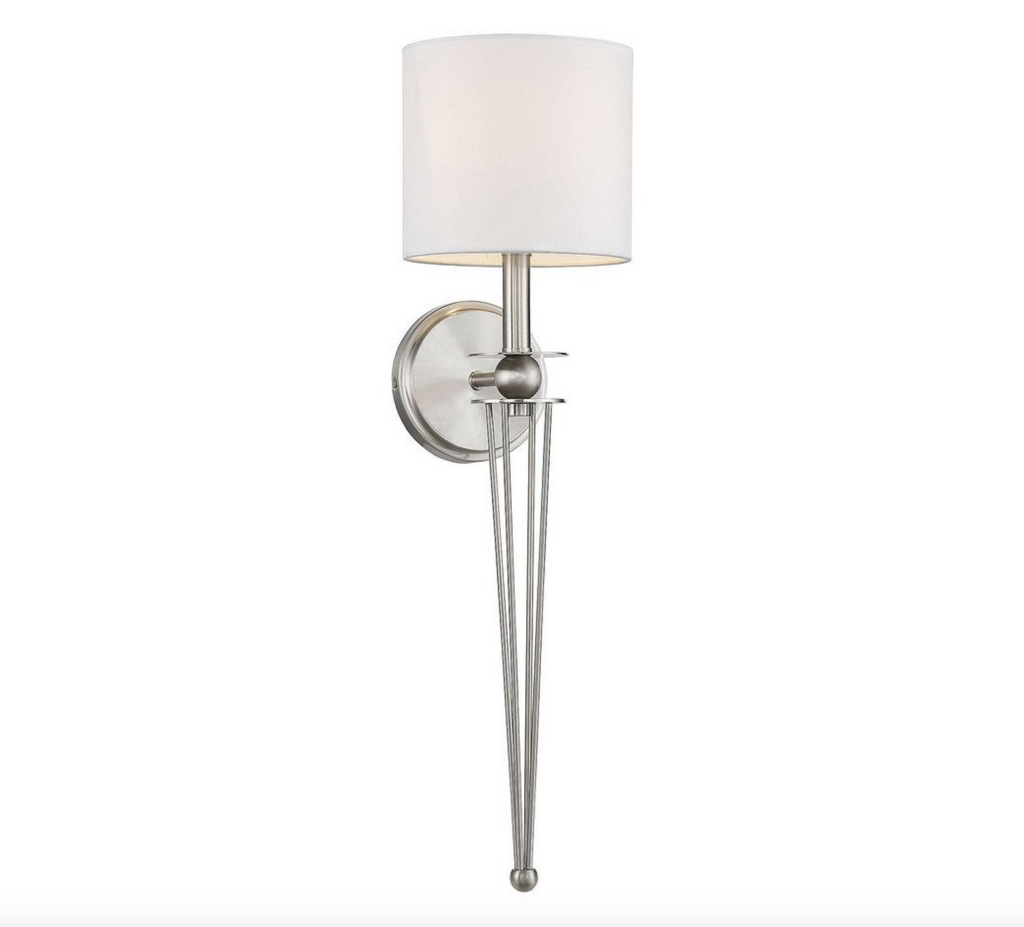 Chaplin 1 Light Sconce Satin Nickel-furniture stores regina-Hunters Furniture