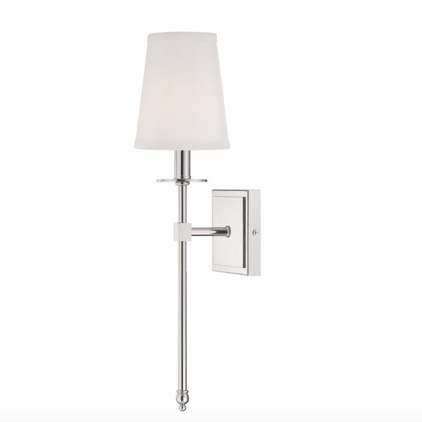 Monroe 1 Light Sconce Polished Nickel-furniture stores regina-Hunters Furniture