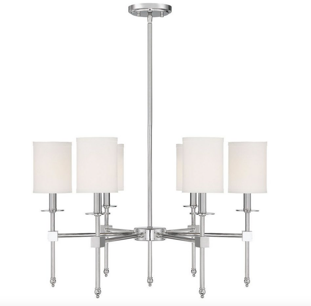 Chatham 6 Light Chandelier Polished Nickel-furniture stores regina-Hunters Furniture