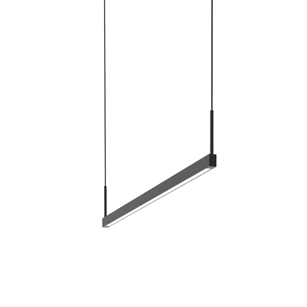 Thin-Line 3' Two-Sided LED Pendant Satin Black-furniture stores regina-Hunters Furniture