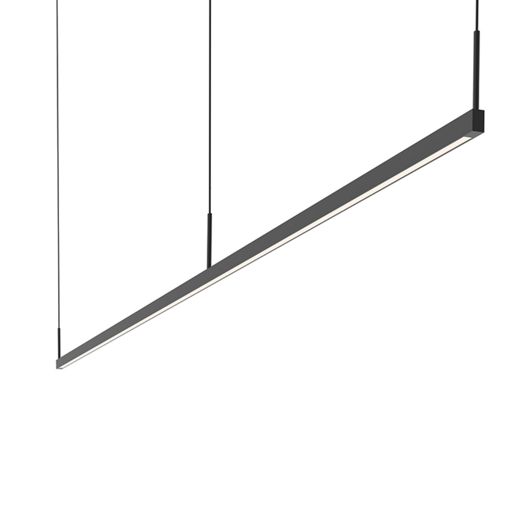 Thin-Line 8' Two-Sided LED Pendant Satin Black-furniture stores regina-Hunters Furniture
