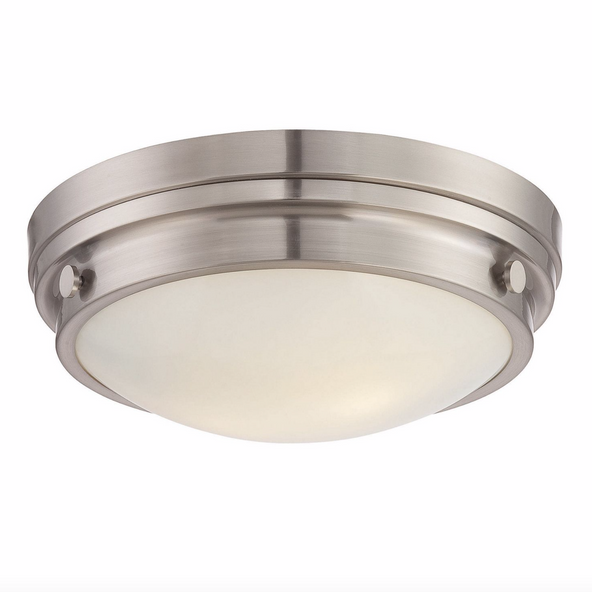 Lucerne Flush Mount Satin Nickel-furniture stores regina-Hunters Furniture