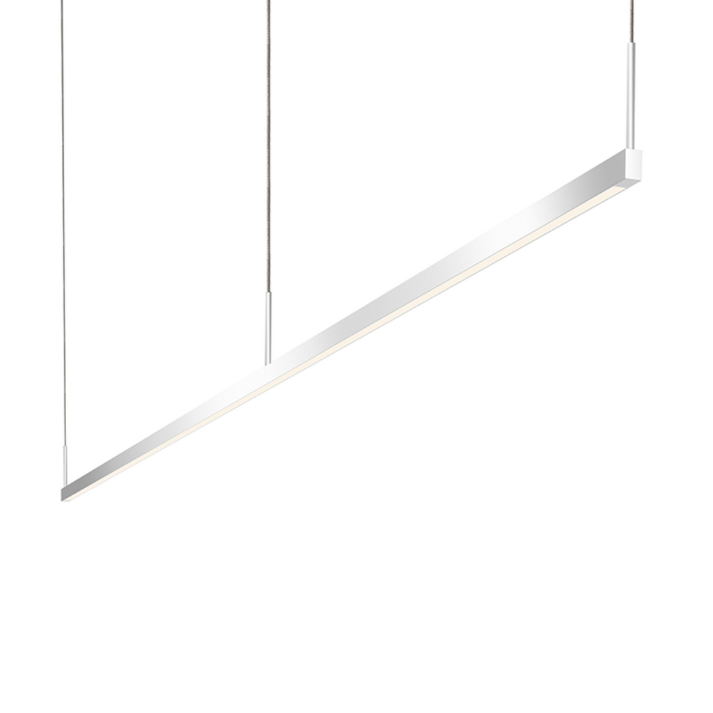 Thin-Line 8' One-Sided LED Pendant Bright Satin Aluminum-furniture stores regina-Hunters Furniture
