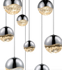 Grapes 3-Light Round Large LED Pendant Polished Chrome-furniture stores regina-Hunters Furniture