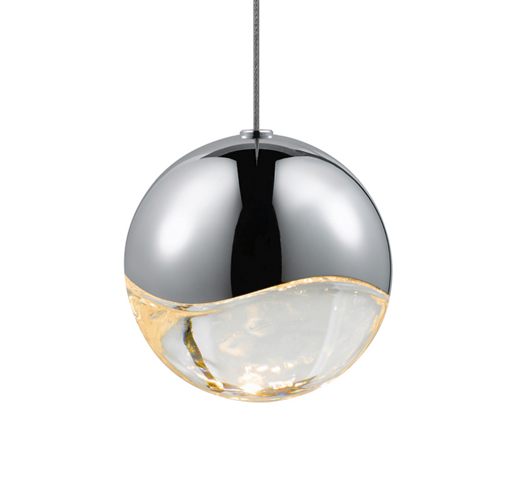 Grapes Large LED Pendant w/ Dome Canopy Polished Chrome-furniture stores regina-Hunters Furniture