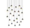 Grapes 24-Light Round Small LED Pendant Polished Chrome-furniture stores regina-Hunters Furniture