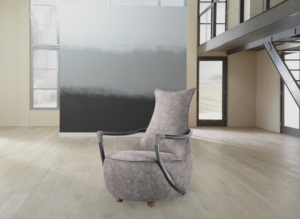 "PORTLAND Grey Velvet - 38"" Chair-furniture stores regina-Hunters Furniture"