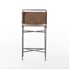 "MUNICH Brown Vegan Leather - 44"" Bar Stool-furniture stores regina-Hunters Furniture"