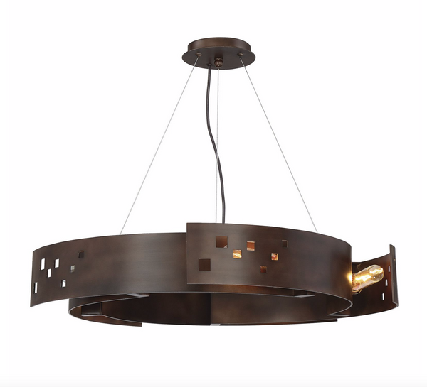 Odessa 5 Light Pendant Bronze Ore-furniture stores regina-Hunters Furniture