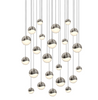 Grapes 24-Light Round Assorted LED Pendant Satin Nickel-furniture stores regina-Hunters Furniture