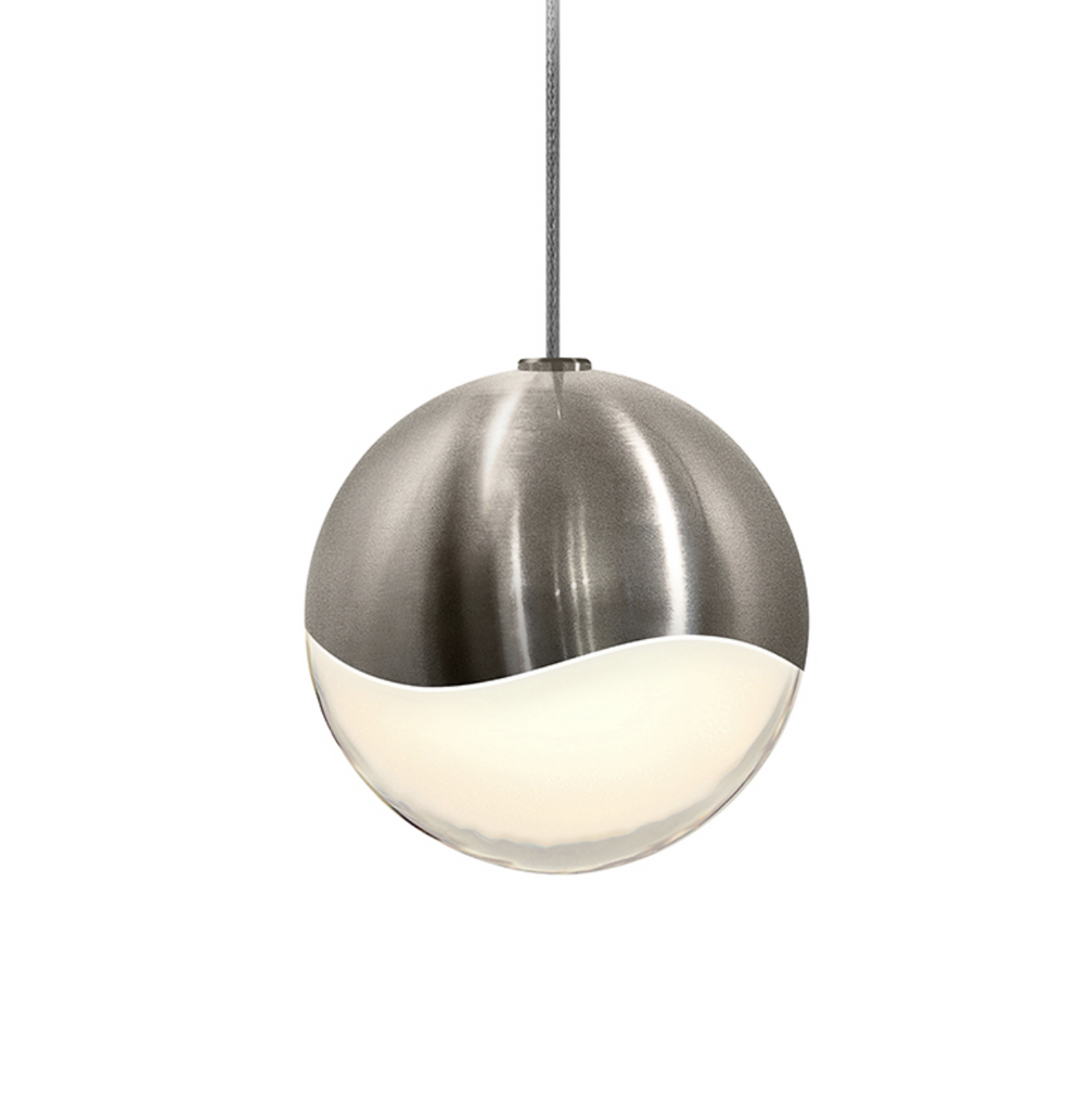 Grapes Medium LED Pendant w/Micro-Dome Canopy Satin Nickel-furniture stores regina-Hunters Furniture