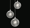Champagne Bubbles 3-Light Round LED Pendant Polished Chrome-furniture stores regina-Hunters Furniture