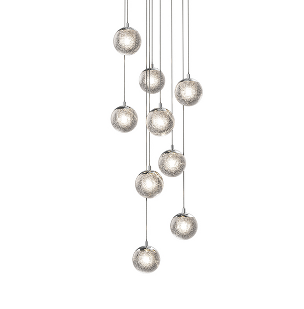 Champagne Bubbles 9-Light Round LED Pendant Polished Chrome-furniture stores regina-Hunters Furniture