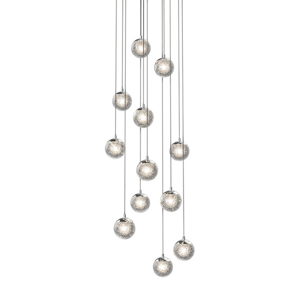 Champagne Bubbles 12-Light Round LED Pendant Polished Chrome-furniture stores regina-Hunters Furniture