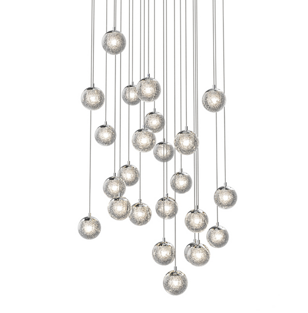 Champagne Bubbles 24-Light Round LED Pendant Polished Chrome-furniture stores regina-Hunters Furniture