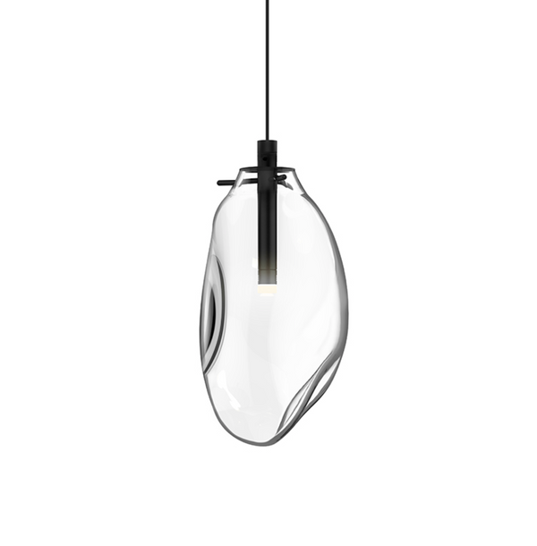 Liquid LED Pendant Satin Black w/Clear Glass-furniture stores regina-Hunters Furniture