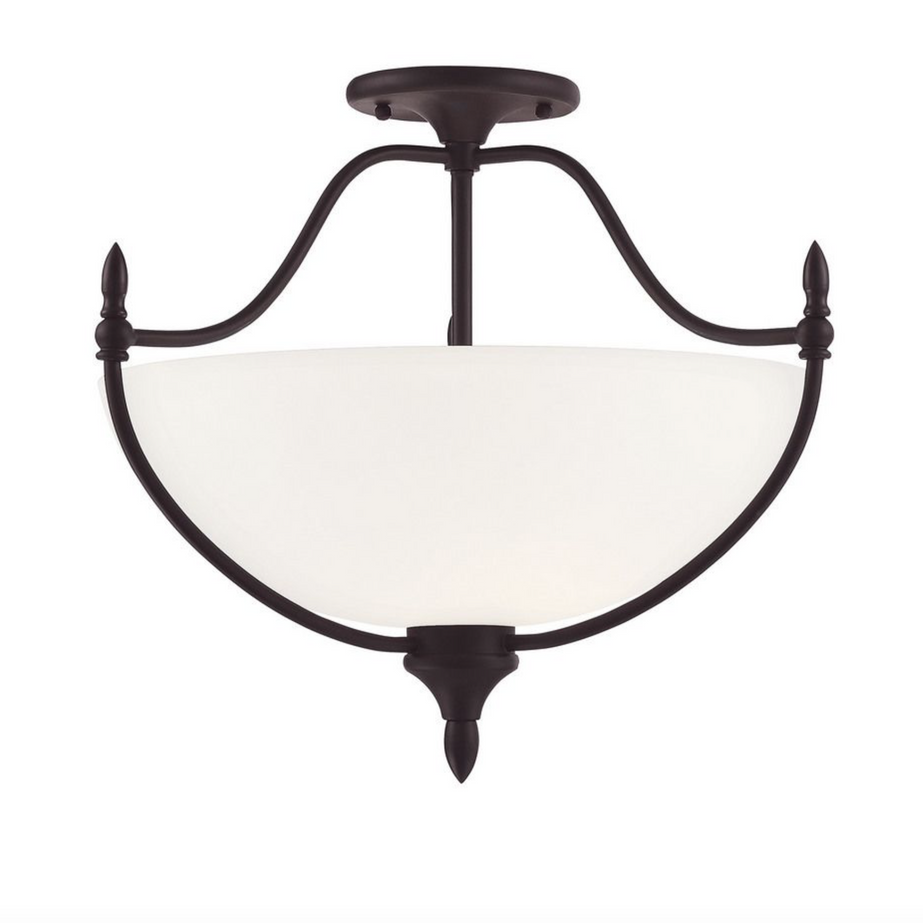 Herndon 3 Light Semi-Flush English Bronze-furniture stores regina-Hunters Furniture