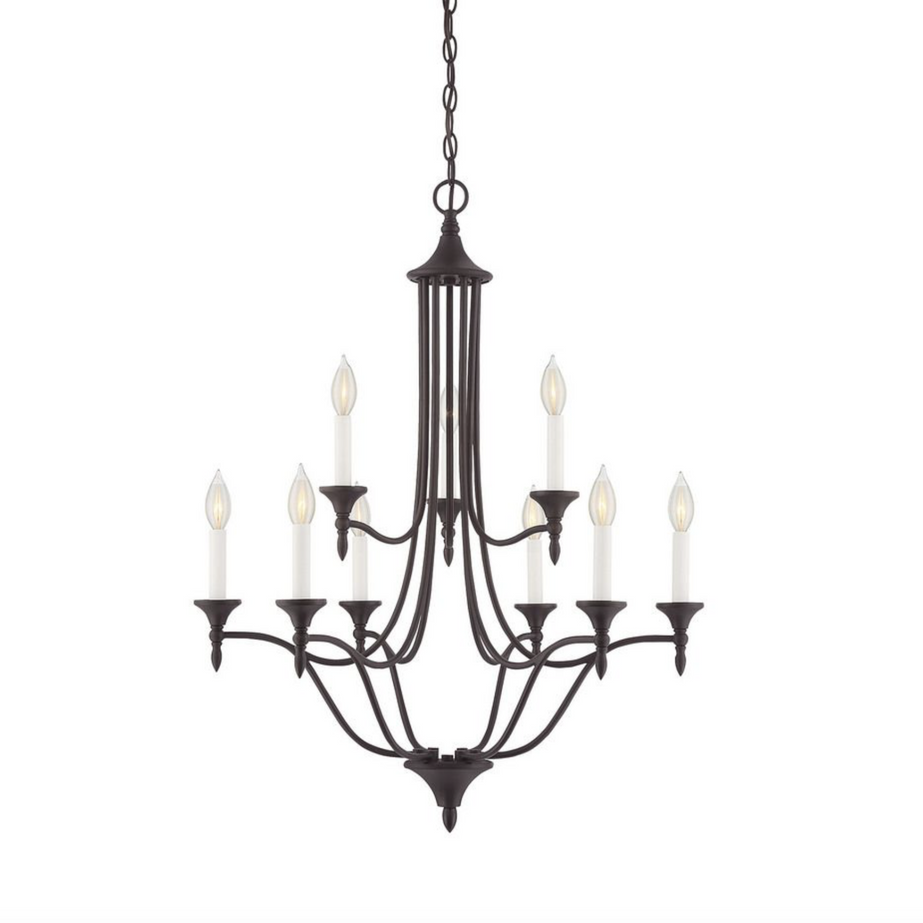 Herndon 9 Light Chandelier English Bronze-furniture stores regina-Hunters Furniture