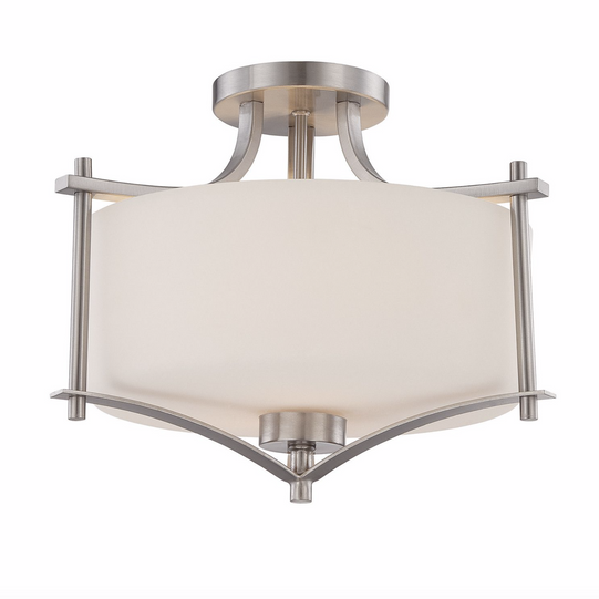Colton 2 Light Semi-Flush Satin Nickel-furniture stores regina-Hunters Furniture