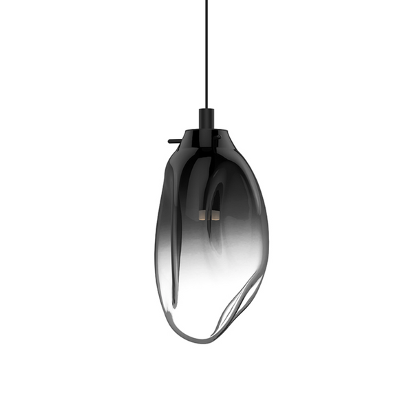 Liquid LED Pendant Satin Black w/Smoke Fade Glass-furniture stores regina-Hunters Furniture