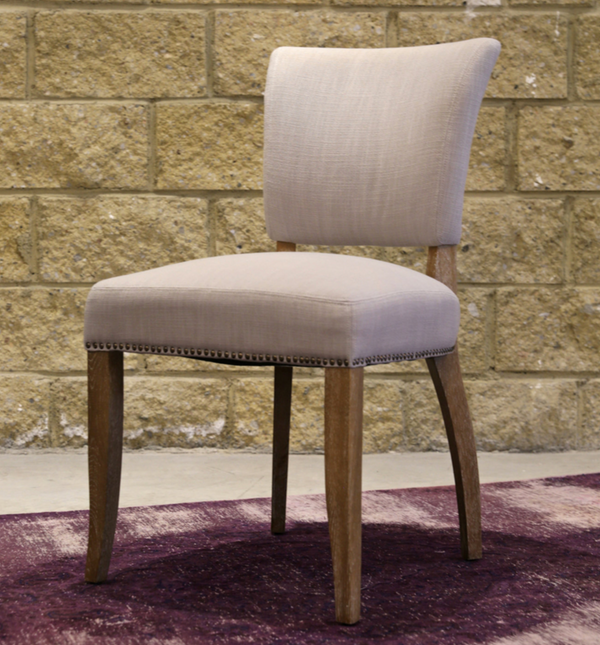 NOTTINGHAM Tan Fabric - L Dining Chair-furniture stores regina-Hunters Furniture