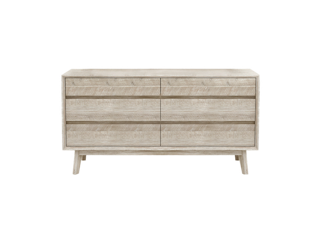 "MADERA Light Grey Exotic Hardwood - 61"" Dresser-furniture stores regina-Hunters Furniture"