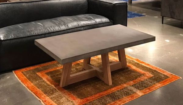 "ALTOS Grey Concrete - 47"" Coffee Table-furniture stores regina-Hunters Furniture"