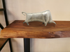 "N166 Silver Bull Sculpture Metal - 17"" Sculpture-furniture stores regina-Hunters Furniture"