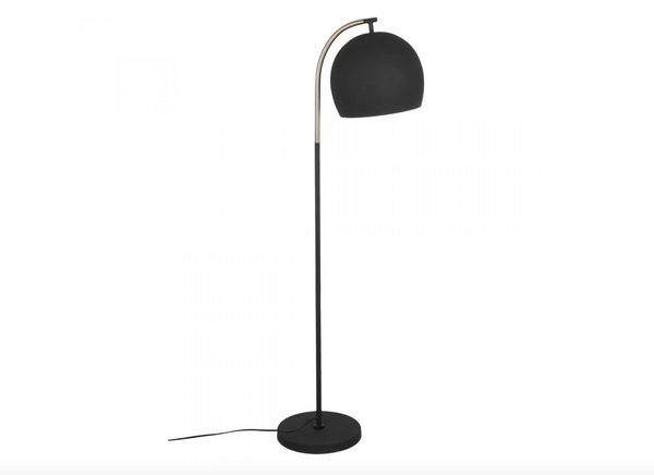 "TORONTO Floor Lamp Black Shade With Brass Touches Metal - 58"" Floor Lamp-furniture stores regina-Hunters Furniture"