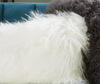 "N133 Lamb Fur Pillow Fabric - 19"" Décor Pillow-furniture stores regina-Hunters Furniture"