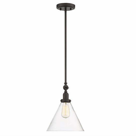 Drake 1 Light Pendant English Bronze-furniture stores regina-Hunters Furniture