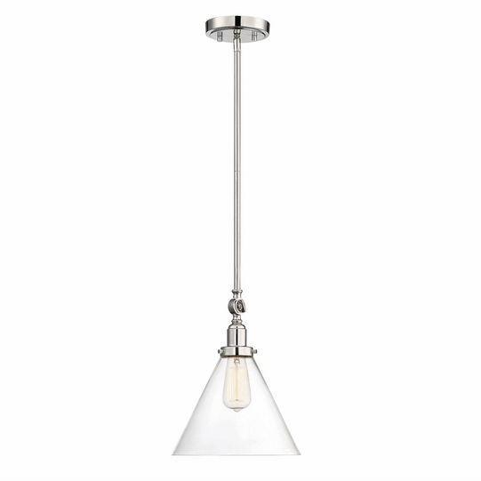 Drake 1 Light Pendant Polished Nickel-furniture stores regina-Hunters Furniture