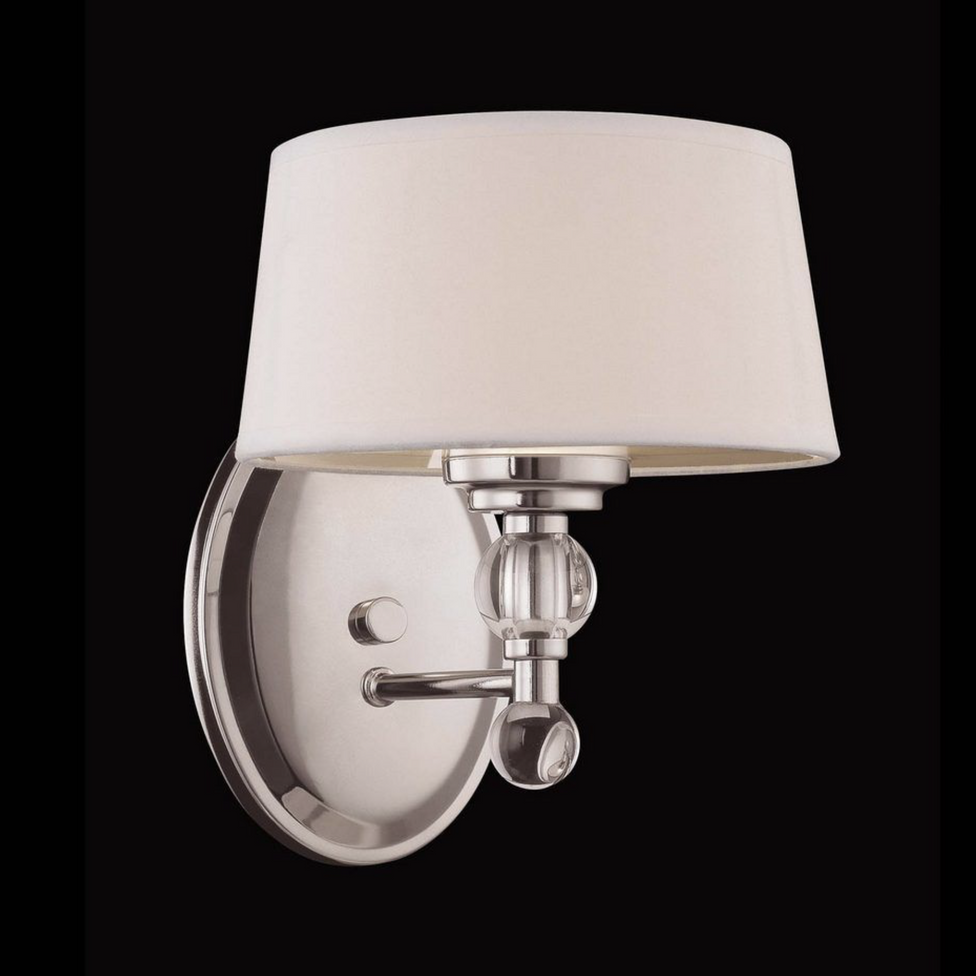 Murren 1 Light Sconce Polished Nickel-furniture stores regina-Hunters Furniture