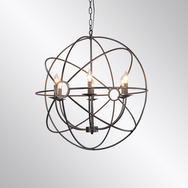 Derince Iron Chandelier Small-furniture stores regina-Hunters Furniture