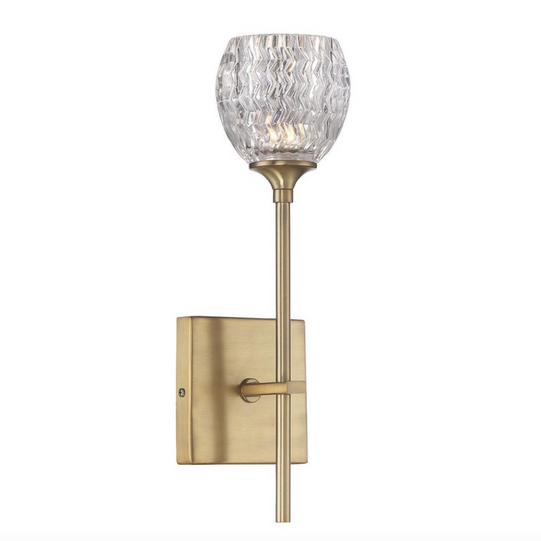 Garland 1 Light Sconce Warm Brass-furniture stores regina-Hunters Furniture