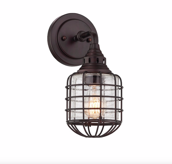 Connell 1 Light Sconce English Bronze-furniture stores regina-Hunters Furniture