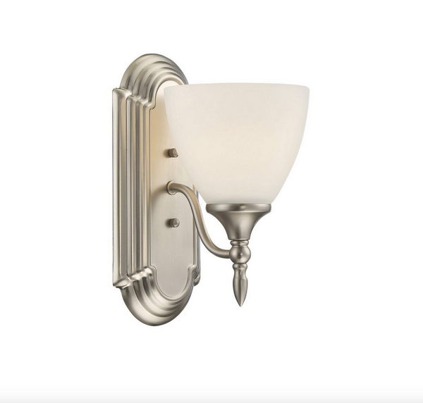 Herndon 1 Light Sconce Satin Nickel-furniture stores regina-Hunters Furniture